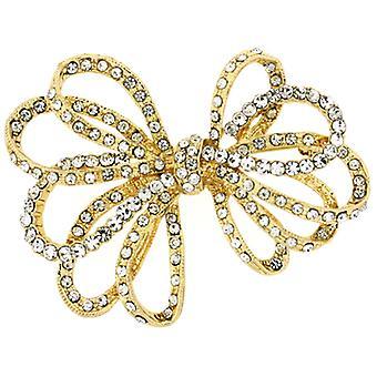 Brosjer Store gull & Crystal åpne bånd Bow brosje