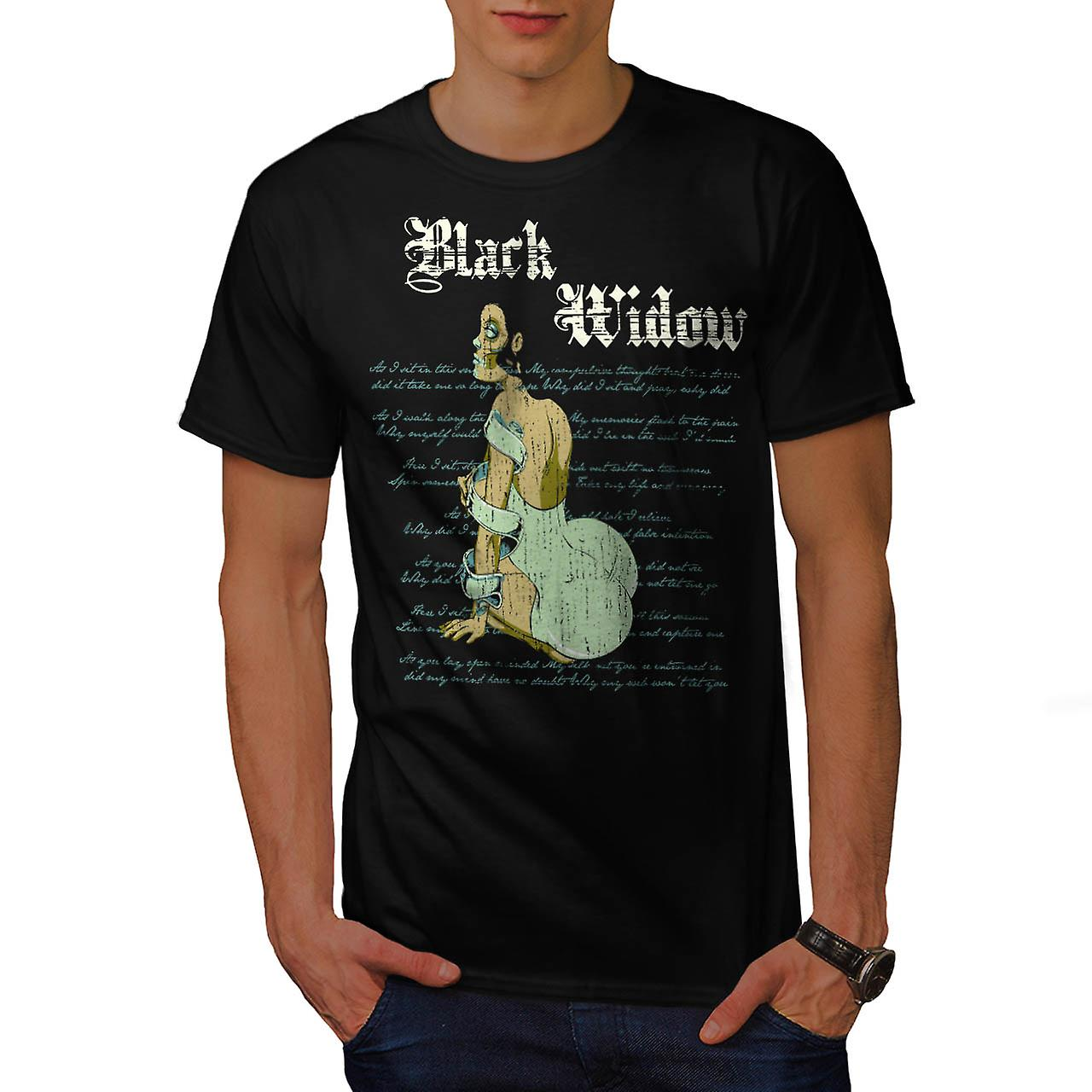 Black Widow Dress Spider Curse Men Black T-shirt | Wellcoda