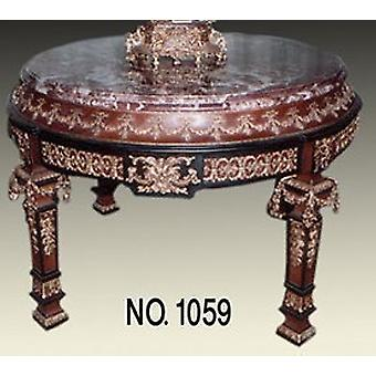 Baroque table round magnificent rococo LouisXV MoTa1059R