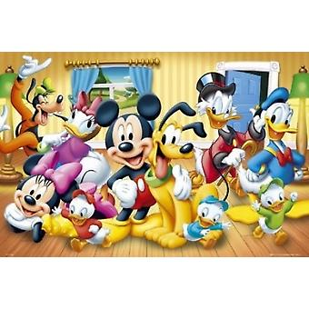 Mickey Mouse Disney Gruppe Poster drucken (24 x 36)