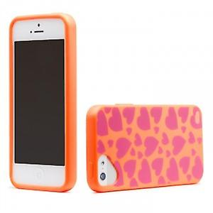 OLO cloud snap on case cover wallet iPhone 5 / 5S heart & Orange