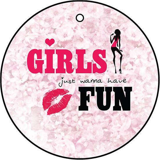 Girls Just Wanna Have Fun Car Air Freshener