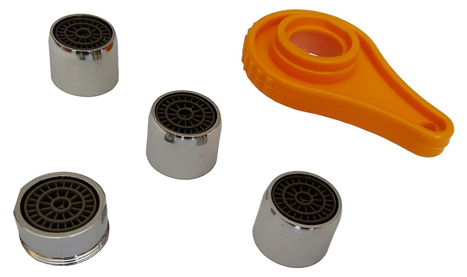 Bathroom Kitchen Faucet Tap Set Kit Aerators 1xM24mm + 3xF22m + Opening Tool