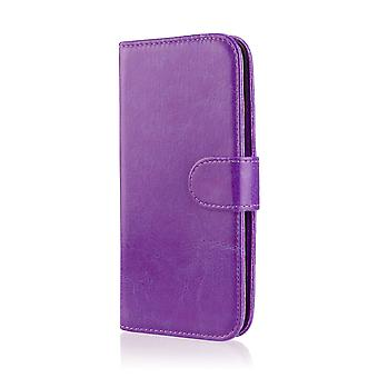 Book wallet case cover for LG Optimus L7ii P710 + stylus - Purple