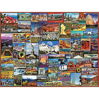 Best Places In America 1000 piece jigsaw puzzle 760mm x 610mm  (wmp)