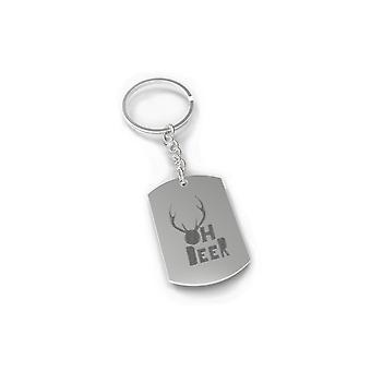 Oh Deer Holiday Keychain Christmas Gift Idea Cute Engraved Key Ring