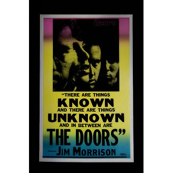 The Doors retro concert poster