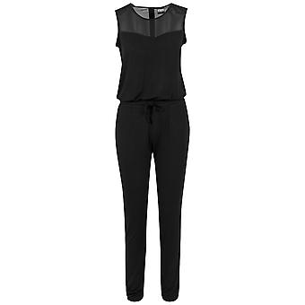 Urban classics ladies - TECH MESH long Jumpsuit black