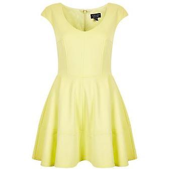 Topshop Ribbed Lemon Skater Dress DR813-8