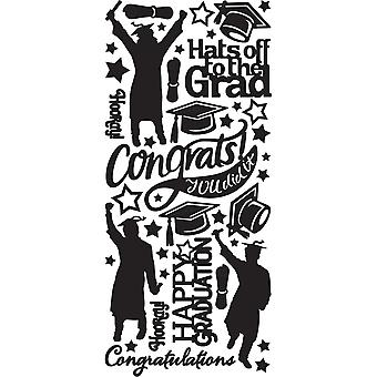 Dazzles Stickers-Graduation-Black DAZ-2569