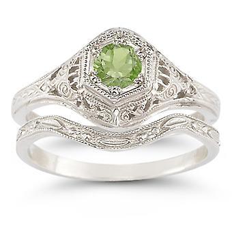 Enchanted Peridot Bridal Set in .925 Sterling Silver