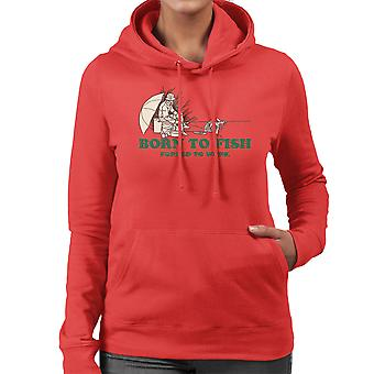 Born To Fish Forced To Work Women's Hooded Sweatshirt