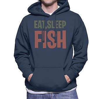 Eten slaap vis mannen Hooded Sweatshirt