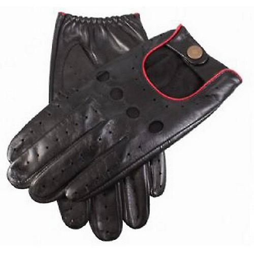 Dents Delta Leather Driving Gloves - Red