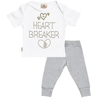 Spoilt Rotten Heart Breaker Baby T-Shirt & Baby Jersey Trousers Outfit Set
