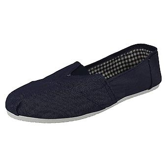 Mens Spot On Flat Slip On Gusset Casual