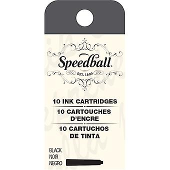 Speedball Fountain Pen Ink Cartridges Set-10/Pkg SB2905
