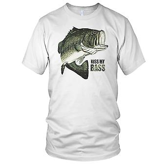 Kysse min Bass fiskere Angler Kids T skjorte