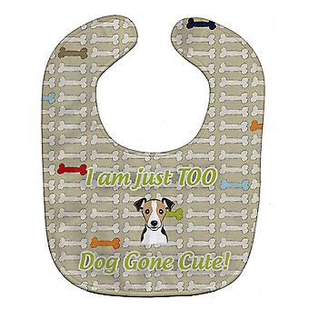 Carolines Treasures  BB5830BIB Too Cute Jack Russell Terrier Baby Bib