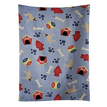 كارولين BB4056KTWL الكنوز الكلب جمع البيت بولماستيف منشفة المطبخ