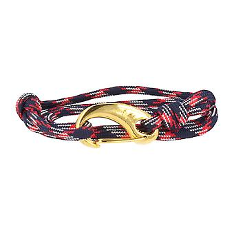 Vikings bracelet blue red white gold lobster clasp