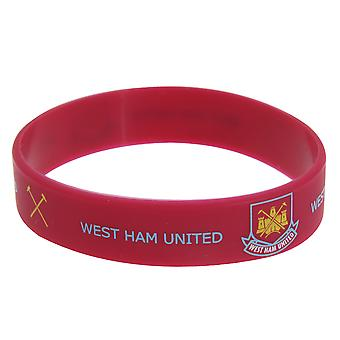 West Ham United FC Official Single Rubber Football Crest Wristband