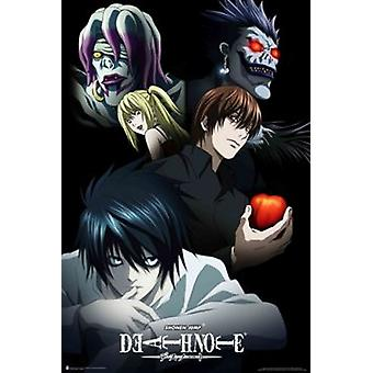 Deathnote Characters - Anime Poster Poster Print