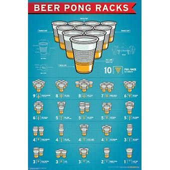 البيرة بونغ رفوف ملصق طباعة ملصق