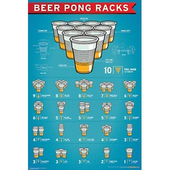 Beer Pong Racks Poster Poster Print