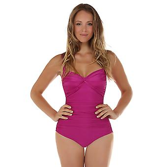 Seaspray 33-2150 Women's Just Colour Grape Purple Shaping Swimsuit