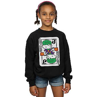 DC Comics Girls Chibi Joker Playing Card Sweatshirt