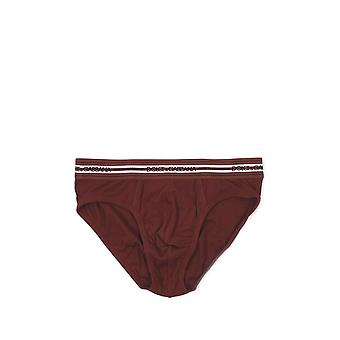 Dolce E Gabbana men's N3B46JFUGF5R5515 Bordeaux red cotton panties