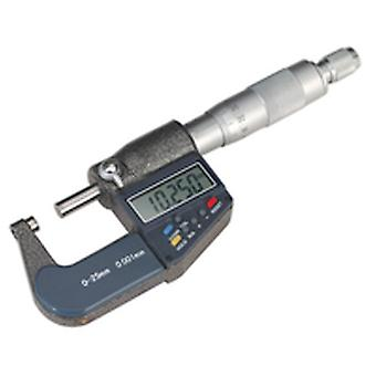 Sealey Ak9635D Digital External Micrometer 0-25Mm/0-1