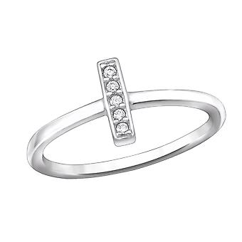 Bar - 925 Sterling Silver Jewelled Rings