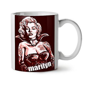 Marilyn Tattoo Celebrity NEW White Tea Coffee Ceramic Mug 11 oz | Wellcoda
