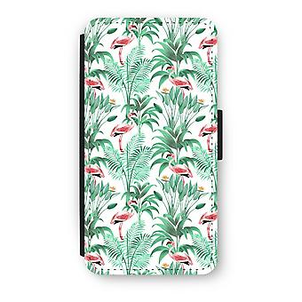 Huawei P8 Lite (2015-2016) Flip Case - Flamingo leaves