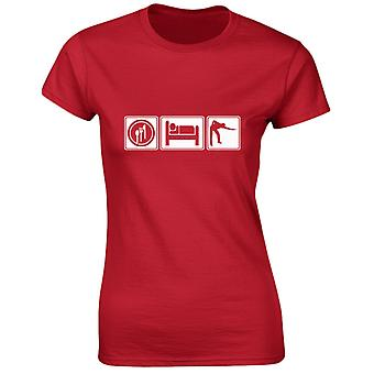 Eat Sleep Snooker Womens T-Shirt 8 Colours (8-20) by swagwear