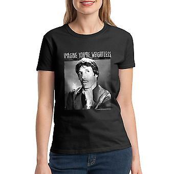 Napoleon Dynamite Imagine Weightless Women's Black Funny T-shirt