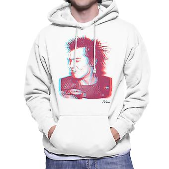 Sid Vicious Close Up With Beer Pink Men's Hooded Sweatshirt