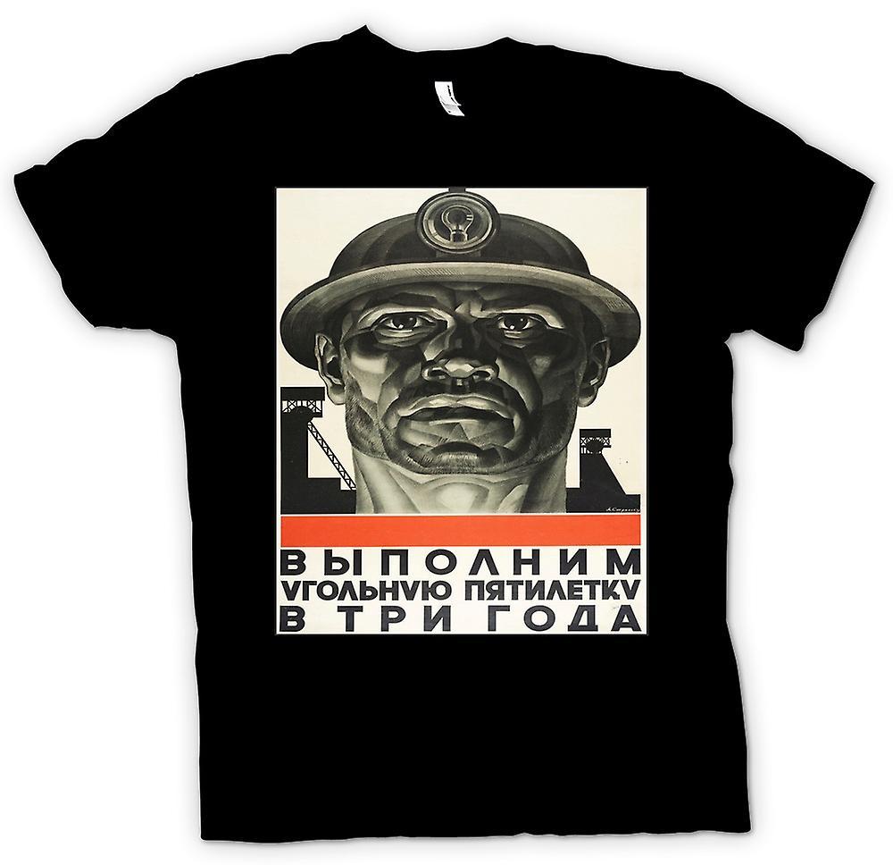 Barn T-shirt - Miner rysk propaganda - affisch