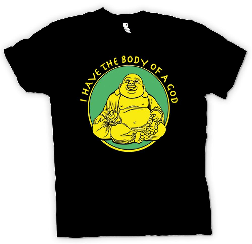 Womens T-shirt - I Have The Body Of A God - Golden Buddah