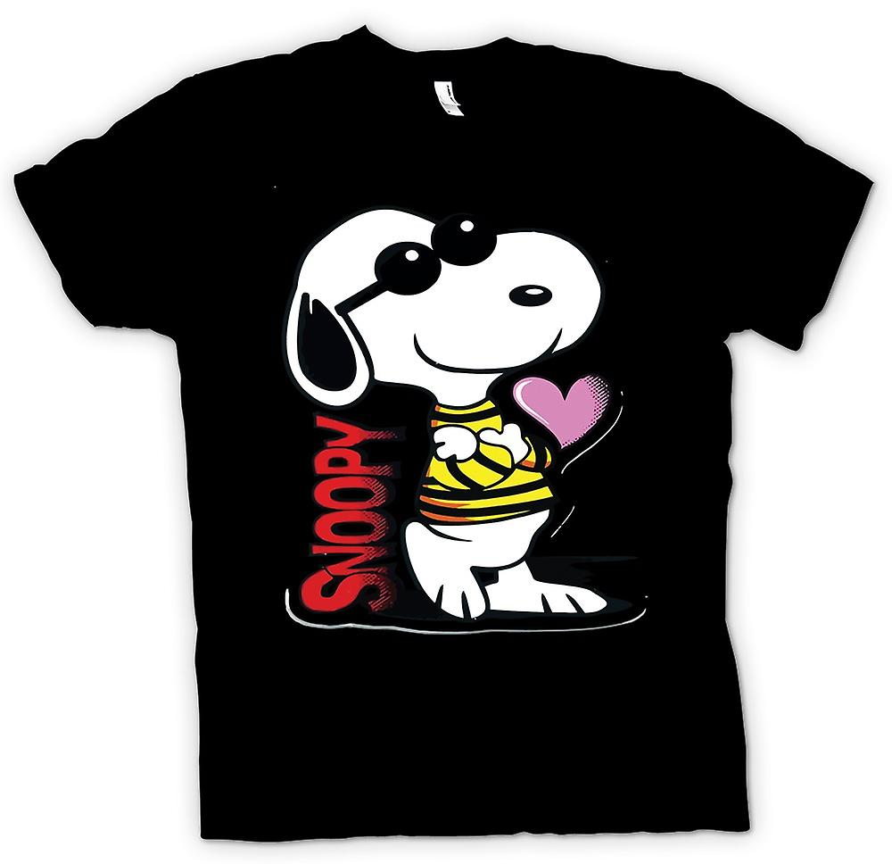Womens T-shirt - Snoopy Cartoon With Heart