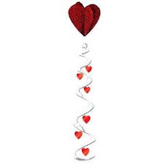 Jumbo hjärta virvel hängande dekoration