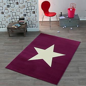 Progettare in moquette velour Star viola 140 x 200 cm | 102200