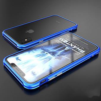 Premium metal shock Bumper Blau for Apple iPhone X / XS bag cover case new