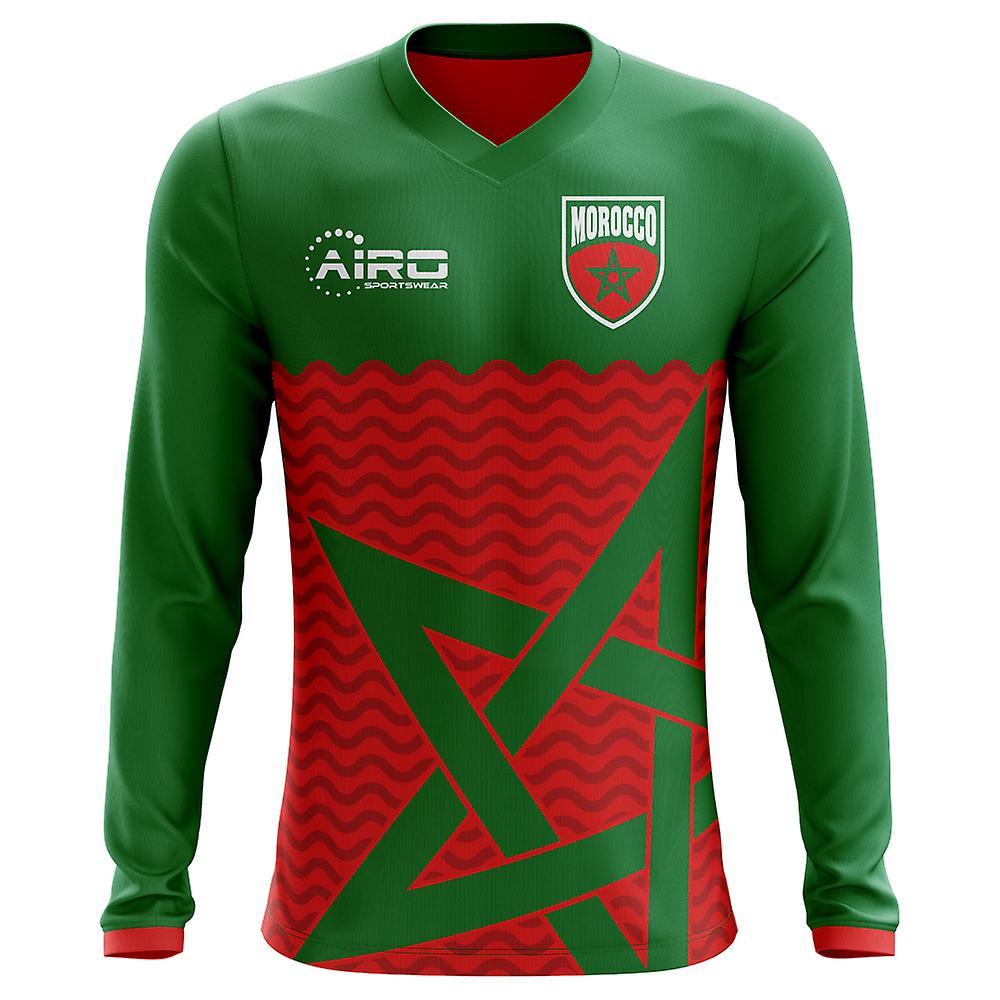 2018-2019 Morocco Long Sleeve Home Concept Football Shirt (Kids)