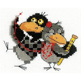 Two Ravens Counted Cross Stitch Kit-6.25