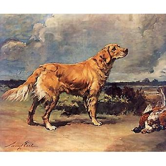Golden Retriever Poster Print by Maud Earl (20 x 24)