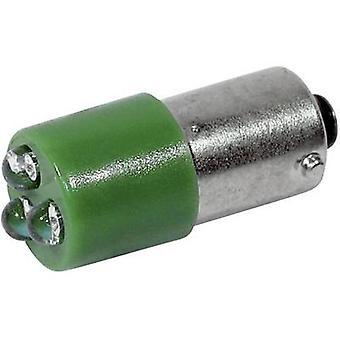 CML LED bulb BA9S Green 24 Vdc, 24 V AC 1500 mcd