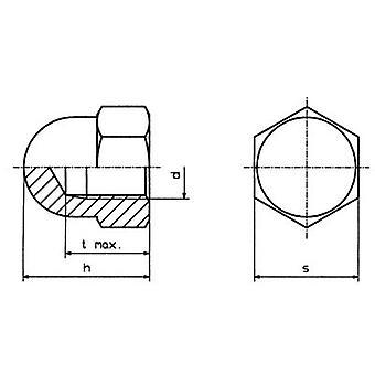 TOOLCRAFT M5 D1587-STAHL:A2K 194788 六角ナット M5 DIN 1587 鋼亜鉛メッキ 10 pc(s)